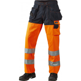 Bundhose, EN 20471 klasse 2, 11100 - Orange/Marine