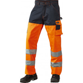 Bundhose, EN 20471 klasse 2, 11106 - Orange/Marine