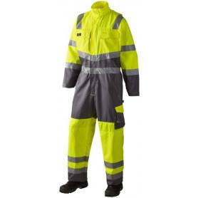 Arbeitsanzug, EN 20471 klasse 3, 11108 - Gelb/Grau