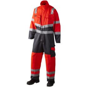 Arbeitsanzug, EN 20471 klasse 3, 11108 - Rot/Grau