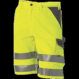 Shorts, EN 20471 klasse 1, 11109-1 - Gelb/Grau