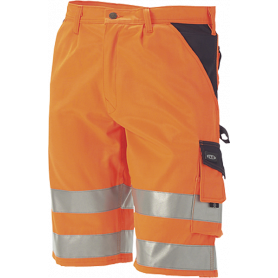 Shorts, EN 20471 klasse 1, Orange/Marine