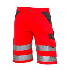 Shorts, EN 20471 klasse 1, 11109-1 - Rot/Grau
