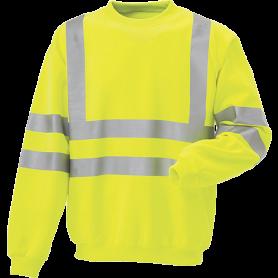 Sweatshirt, EN 20471 klasse 3, 11115 - Gelb