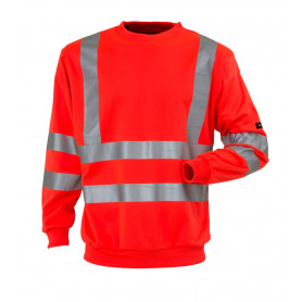 Sweatshirt, EN 20471 klasse 3, 11115 - Rot