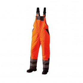 GHBV Latzhose, En20471, 11125 - Orange/Grau