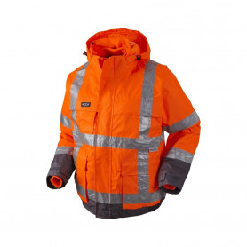 GHBV Pilot Jacke EN20471, 3 in 1, 11126 - Orange/Grau