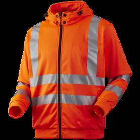 Sweatjacke mit abnehmbarer Kapuze, 11143 - Orange