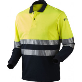 Poloshirt, 13116 - Gelb/Marine