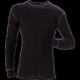 Coolmax active funktionsunterhemd, mit rundem Kragen, 6001 - Schwarz