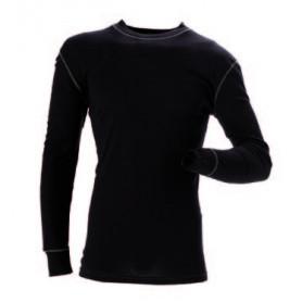 Funktionsunterhemd mit rundem Kragen, 6007 - Schwarz