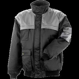 Jacke, mit abnehmbaren Ärmeln, 6121 - Schwarz/Grau