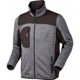 Strick-Fleecejacke, 6155 - Grau
